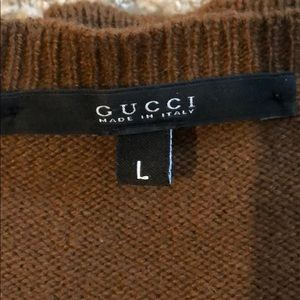 GUCCI SWEATER. Men's large.